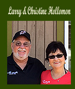 Larry & Christine Hollomon Owners of Peaceful Pines RV Park & Campground and Manager Dawn Hollomon